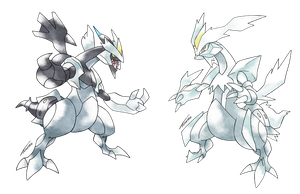 Black and White Kyurem - Old S. Style