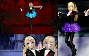 [MMD - Roman] Hortensse and Violette by EriPhantomhive