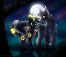 Moonlit Walk by Eevie-chu