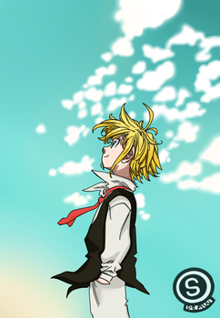 Meliodas by Samy-draw