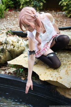 Serah - by the pond by Junicorn77