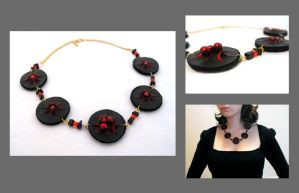 Leather volcano necklace by julishland