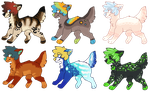 Canine Adopts 6 (2/6 OPEN) by all-type-adopts