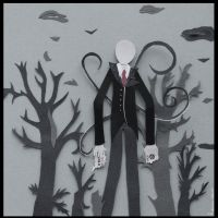 Slender Man papercraft. by MonotoneInkwell