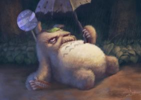 When Totoro gets old by istarlove