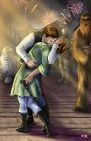 Star Wars - Endor Kiss 2015 by WiL-Woods