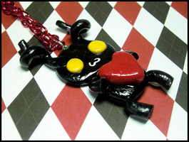 Cute Heartless Necklace by GrandmaThunderpants