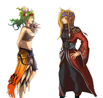 Commission 03 Terra and Rikku by Angy89