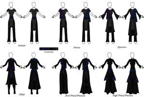 Twillon Priesthood Ranks and Outfits by The-Serene-Mage