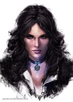 Yennefer Portrait by YamaOrce