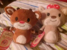 Rudolph and Clarice Itty Bitties by SkunkyRainbow270