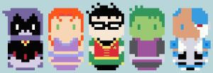 CHIBI--Teen Titans by kanitted