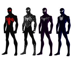 Spider-man simbiote costume redesign request by shorterazer