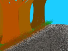Gravel Track and Trees by KBAFourthtime