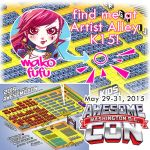 Find me at Awesomecon 2015 - AA K15! by Mako-Fufu