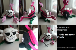Cyanide and Happiness: Tickle Monster Plush by shillermetimbers