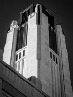 Smith Center Tower in Infrared by eprowe