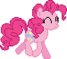 Pinkie Pie Pixel Art by rolin11