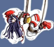 Nakoruru all tied up by Wing-Saber