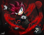 A Hedgehog with sobrenatural powers by DrawMj