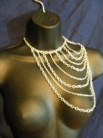 Over the shoulder body chain by BacktoEarthCreations
