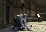 The Blue Giant and the Shoelaces by Cobalt3D