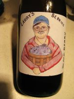 Larry's Berries Wine Bottle by seagnomes