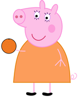 Peppa Pig: Mummy Pig eating an orange by dev-catscratch