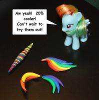 Rainbow Dash custom WIP by AleximusPrime