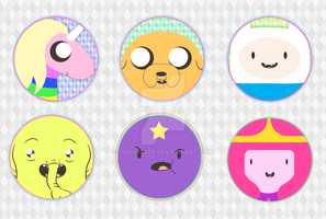 Adventure Time Buttons AN by TaiDaisuke