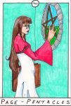 Barefoot Tarot - PentaclesPage by SparrowsHellcat