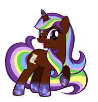 Commission 2# Rainbow Power Eliyora by SeekerOfDestiny