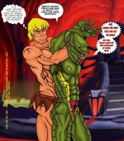 Kobra Khan vs He-Man-10 Full Nelson by JungleKingKazar