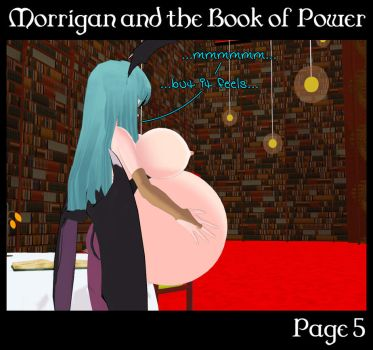 Morrigan and the Book of Power 5 (Commission) by Morphy-McMorpherson