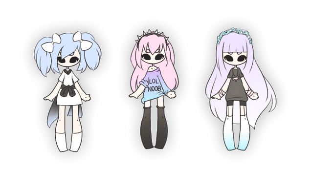 .:: Adoptables - Pastel Cuties ::. {1/3 OPEN} by Lilitihum