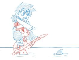 Claire and the Boy go fishing. by NeroGeist