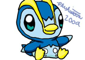 Fippi, the Piplup, kind of... by plushietoon