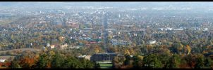View over Kassel - autumn by Niophee