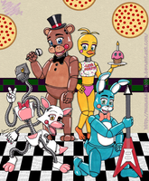 Five Nights at Freddy's 2:  The Toy Crew by murasaki-rose