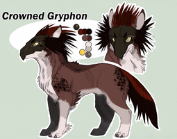 Crowned Gryphon PAYPAL AUCTION SOLD by KasaraWolf