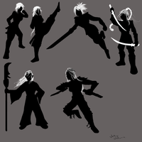 Warrior Girl Silhouette (Kreroni Fenzon) by Neighthirst