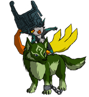 -:Link and Midna WWS:- by the19thGinny