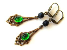 Deceit - Thor and Avengers Loki inspired earrings by monashierogliphica