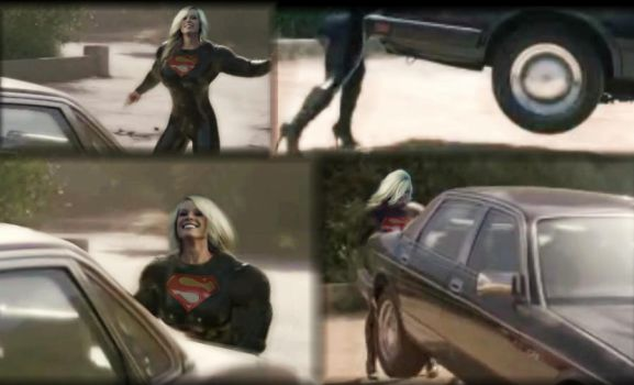 Another Mystery SuperWoman Caught on Security Cam by SuperGirlStrength