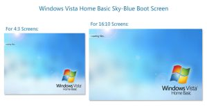 Vista HomeBasic Sky Bootscreen by salmanarif