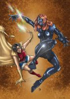 Jubilee vs Mystique by Ludi-Price