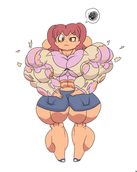 Beefed Up Natsumi Hinata by TheCottonCandyQueen