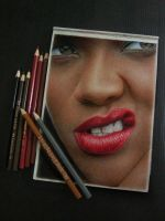 Rihanna On Paper  ... i like it, like it by A-D-I--N-U-G-R-O-H-O