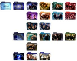 Stargate SG-1, Atlantis, Universe Folder Icons by nellanel