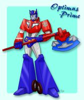 Animated Optimus Prime by J-666